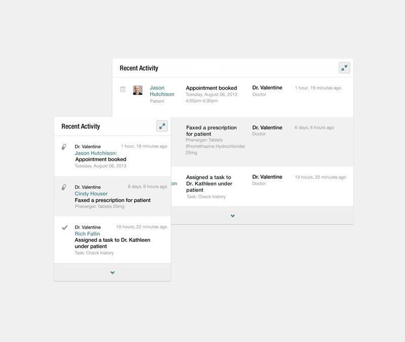 Screenshot of the activity interface